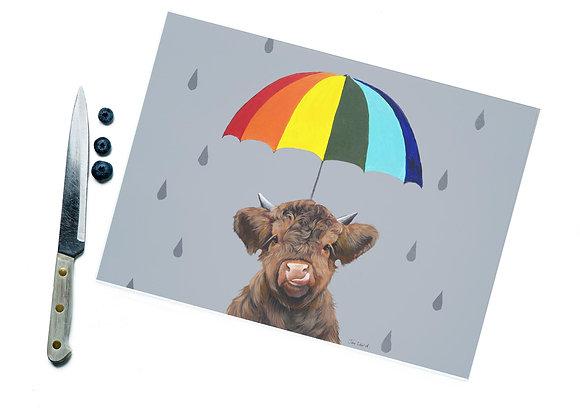 Umbrella Glass Cutting Board