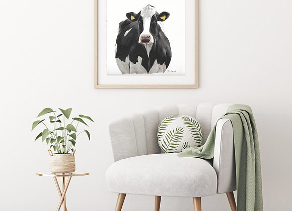 Black & White Holstein Drawing