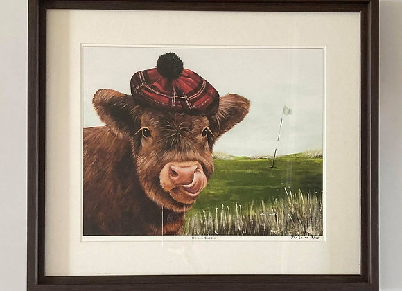 Framed Heilan Caddie Limited edition Print