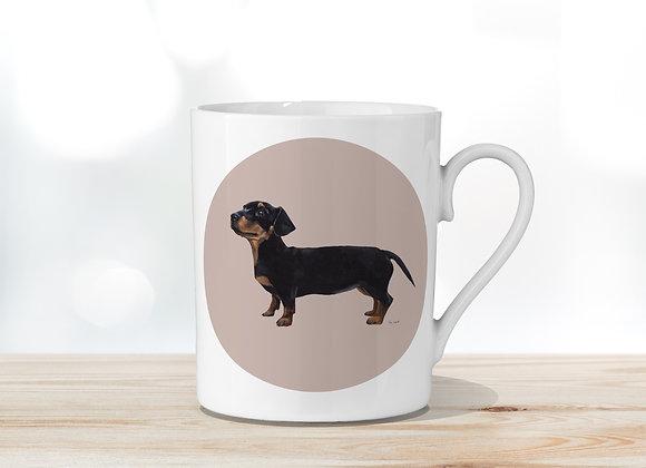 Dachshund (Pink) Fine Bone China Mug