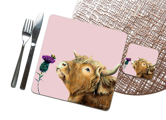 Thistle Bee Mine Coaster / Placemat