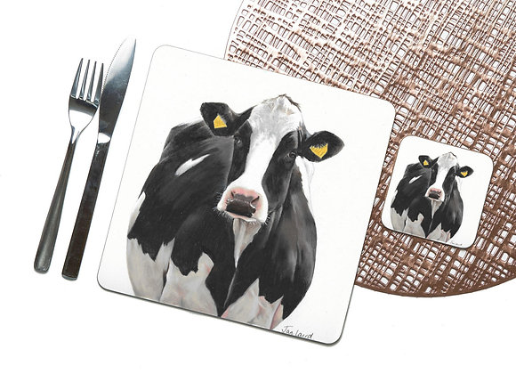 Holstein Cow Coaster / Placemat