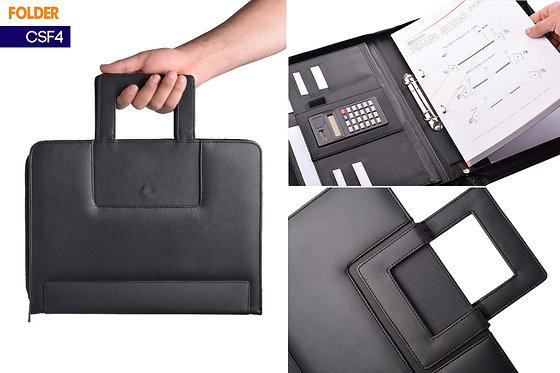 CSF4 -- Handy Leather Folder with Calculator