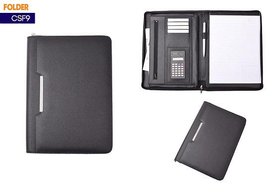 CSF9 -- Leather Folder with Calculator