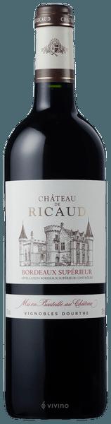 2015 Château de Ricaud Cadillac Côtes de Bordeaux, France, 75cl