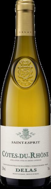 2017 Cotes du Rhone blanc St Esprit Delas Rhone, France, 75cl