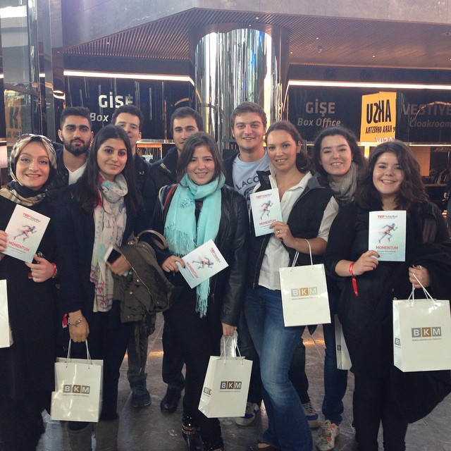 Öğrenciler ile #TED izlemeye geldik