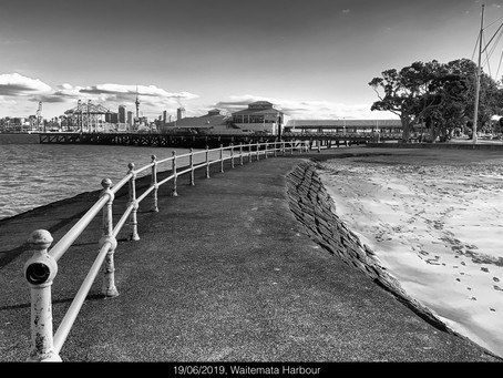 Devonport. Reason to visit, a beautiful winter's day on the edge of the Waitemata harbour.