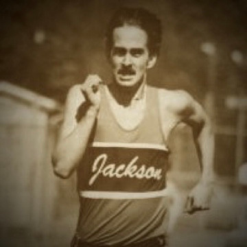 Nike weartester in High School idolizing Steve Prefontaine with the moustache