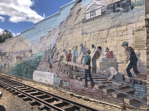 Mural off of Main Street in Maupin Oregon