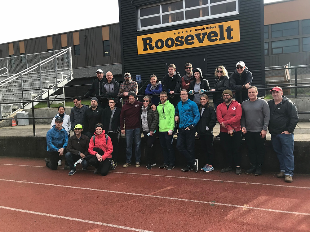 A team from Nike found a project to help clean up the track before the season as a way to give back