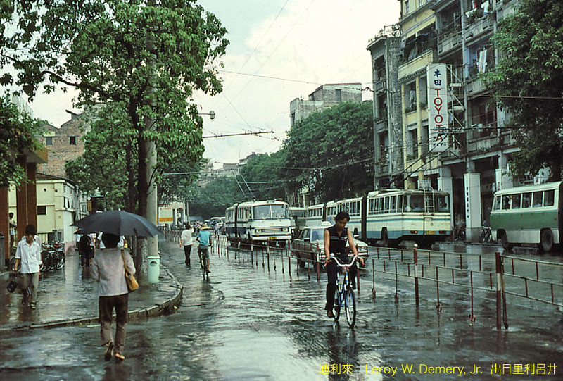 There were no cars, taxis or motorcycles on the streets of Guangzhou in 1983