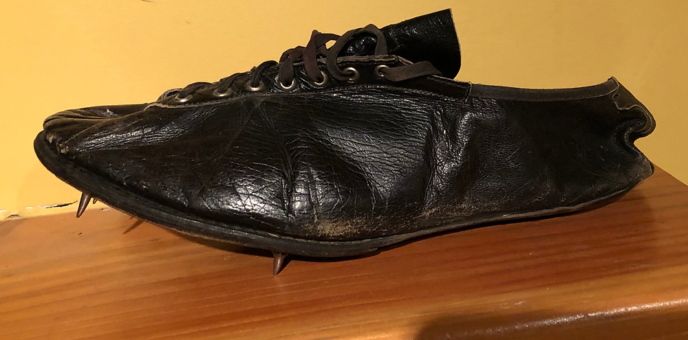 Supple kangaroo leather shoes used during my Dad's Sophomore and Junior Year at Willamette University 1952-53