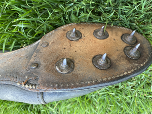 1948 version of track and field spikes for cinder or dirt tracks