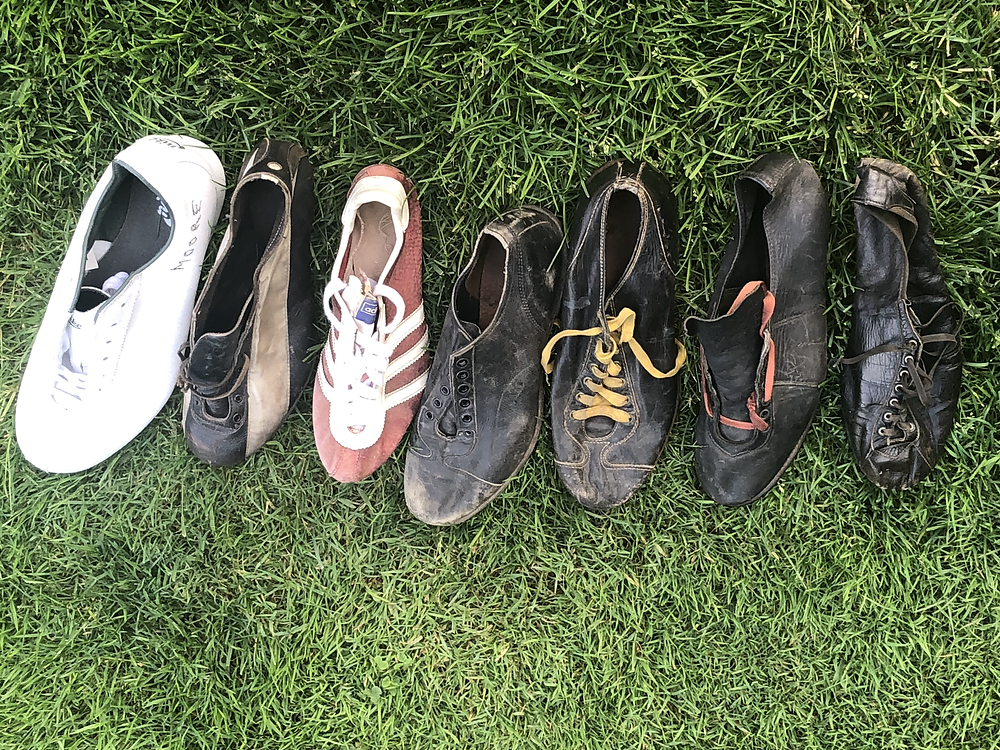 Track and Field and Baseball cleats from the mid 1940's through the 1970's