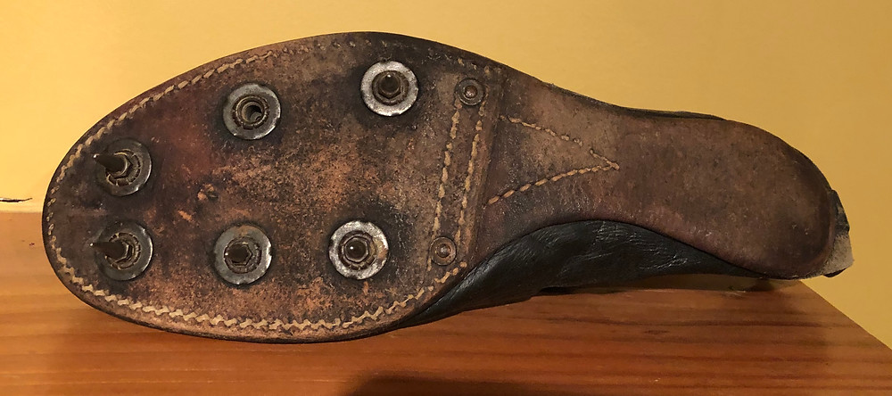 Leather outsole was sleeker and spikes were removable and replaceable