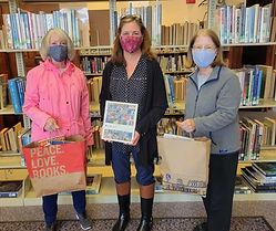 Library Photos Peacedale Carolyn Maher,  Laurel Clark, library  director; Sue Amoruso .jpg