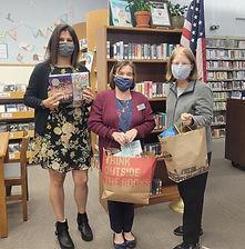 Library PhotosLeft to right. Jessica O'Campo, children's librarian;  Patti Arkwright, libr