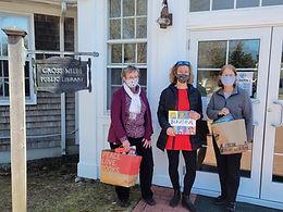 Library Photos Cross Mills Elaine Hogan,  Sarah Ornstein, library director; Sue Amoruso.jp