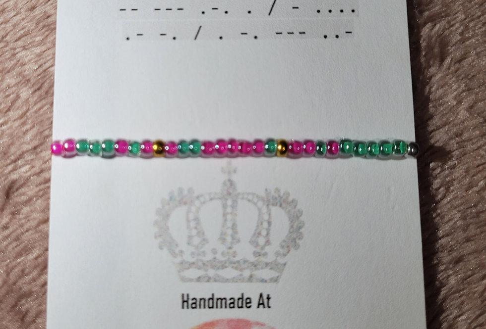 Morse Code Bracelet; More Than Enough