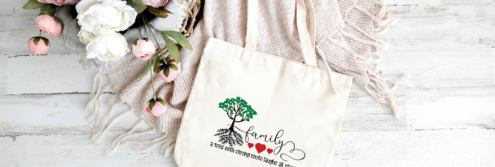 Tote Bag; A tree with strong roots, laughs at storms