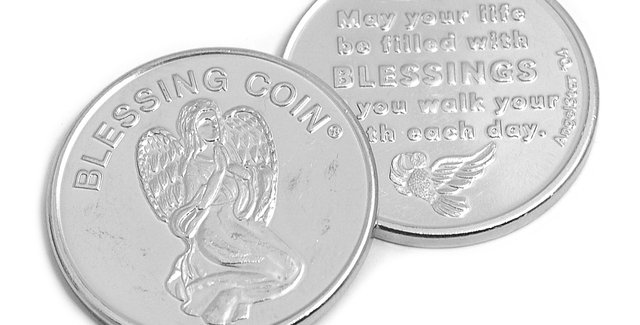 Angel Token; Blessing Coin - May Your Life Be Filled With Blessings
