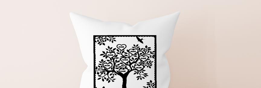 Cushion; Personalized family tree