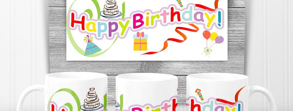 Mug; Happy Birthday