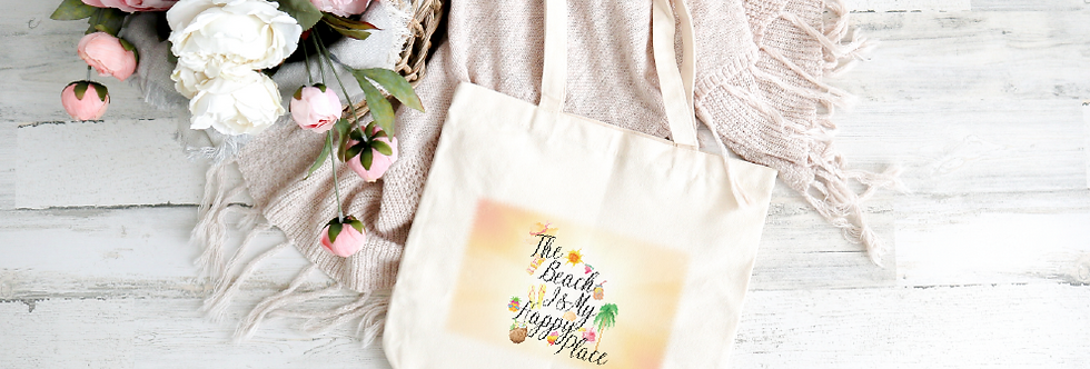 Tote Bag; The Beach Is My Happy Place