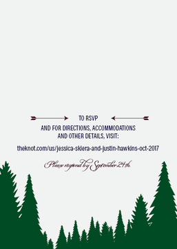 Back of Wedding Invite