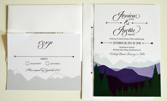 Wedding Invite + Envelopes