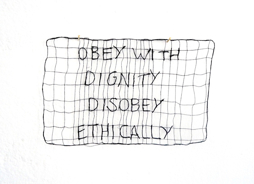 Celine Ducret, Obey with dignity desobey