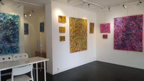 Vernissage de l'exposition solo de       Jung Mi Kim