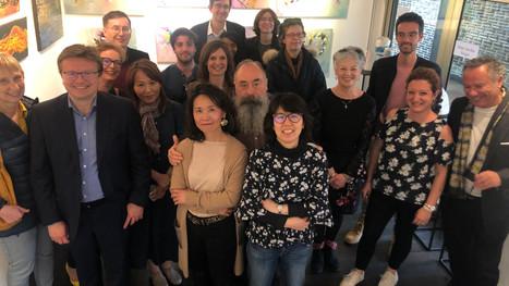 Vernissage de l'exposition collective de Manuella Ricordi ; Martine Rauzy ; Lily ; Shu-E ; Flore