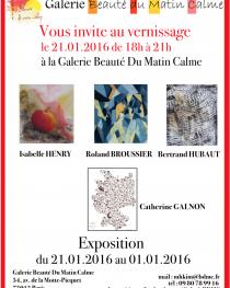 VERNISSAGE DE LA NOUVELLE EXPOSITION DE LA GALERIE BEAUTÉ DU MATIN CALME