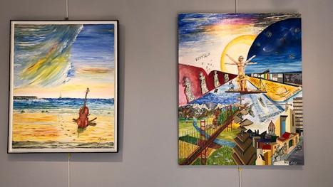 Vernissage de l'exposition personnelle de Michel Leray
