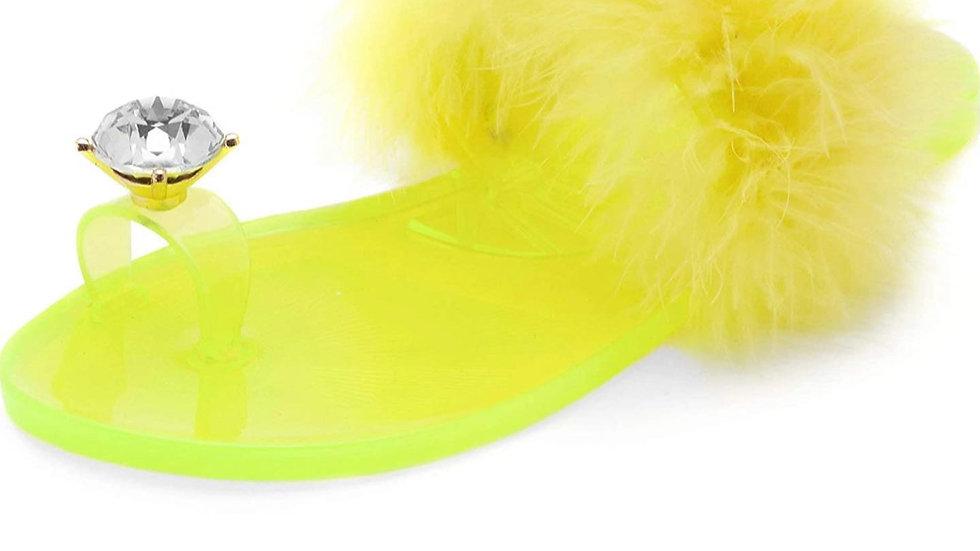 neon sassy slippers