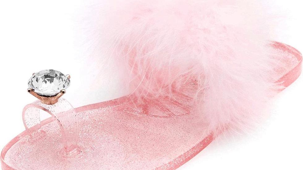 Baby Pink Sassy Slippers