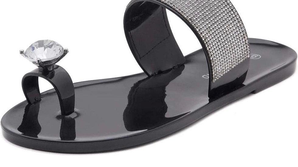 sassy shimmer sandals
