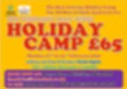 February 2020 Half Term Holiday Camp_edi