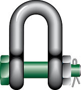 Page 13 - Green Pin Safety Dee Shackle -