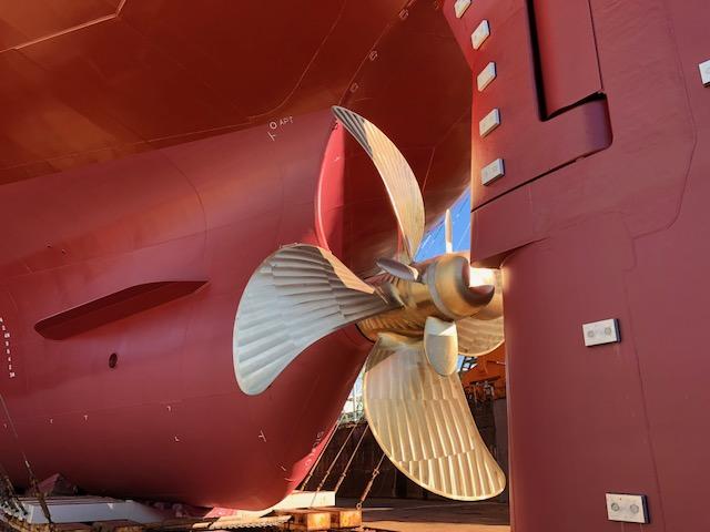 大型船、プロペラ