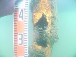 潜水調査、潜水作業、アーク、溶断、切断