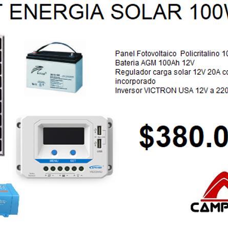 KIT Energia Solar  panel 100W / 500Watts 220V
