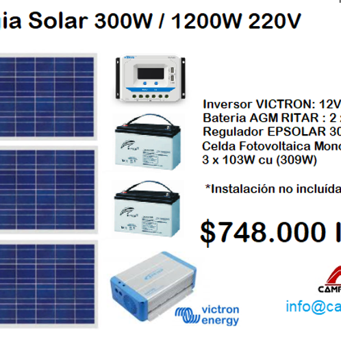 KIT ENERGIA SOLAR 1200WATTS