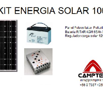 KIT Energia Solar 100W Económico