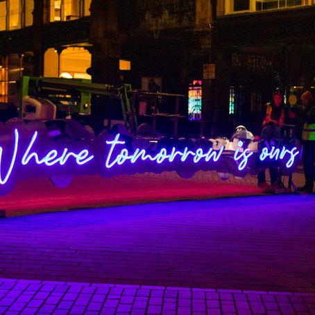 An illuminating addition for the festive season – James Glancy Design join forces with LeedsBID to b