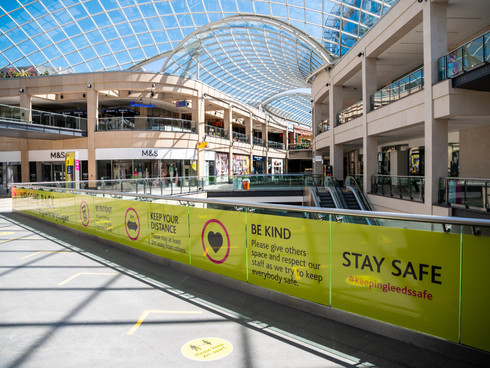 Trinity Leeds and White Rose Shopping Centres are ready to re-open for non-essential retail