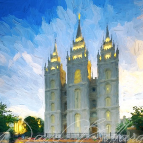 Salt Lake City Utah - LDS Temple Reflection - UTCREATIVE