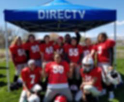 Utah Girls Tackle Football League Sponsorship tent